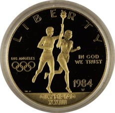 United States - Proof set 1984 'Los Angeles Olympics' (2 coins) - Silver & Gold