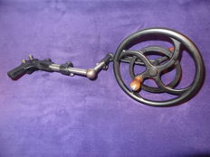 Old handwheel drive for old watch maker's lathe