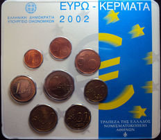 "Greece – year pack 2002 ""Struck at the Dutch Mint""."