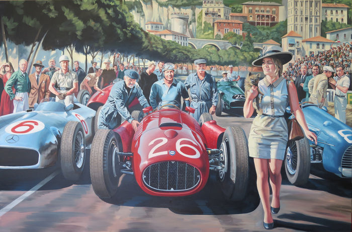 """The day that Ascari dived in the port of Monaco"" - 22-05-1955 - Grace Kelly - Fine Art Print"