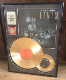 """Elvis Presley - 24 kt Gold Plated LP """"The Great Performances"""""""