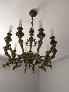 Brass chandelier - Italy, early 20th century