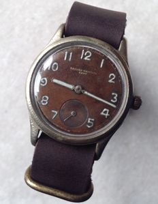 RECORD for Wehrmacht - WW2 German Army military wristwatch - circa 1945