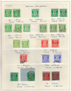 Guernsey 1940/1944 - Collection of German Occupation stamps and covers