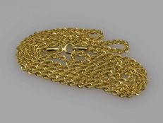 18k Gold. Chain Cord. Length 55 cm.