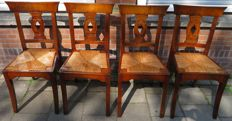 Four mahogany dining room chairs, United Kingdom, 19th century