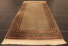 Magnificent hand-knotted oriental palace carpet, Sarough Mir, runner, 95 x 195 cm, made in India, best highland wool
