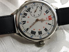 English Chronometre silver men's wristwatch between 1905-1910