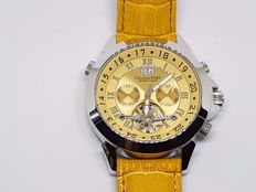 CALVANEO 1583 – Model Astonia Platin Whiskey Sunbrushed – New, never worn with original box and authenticity papers