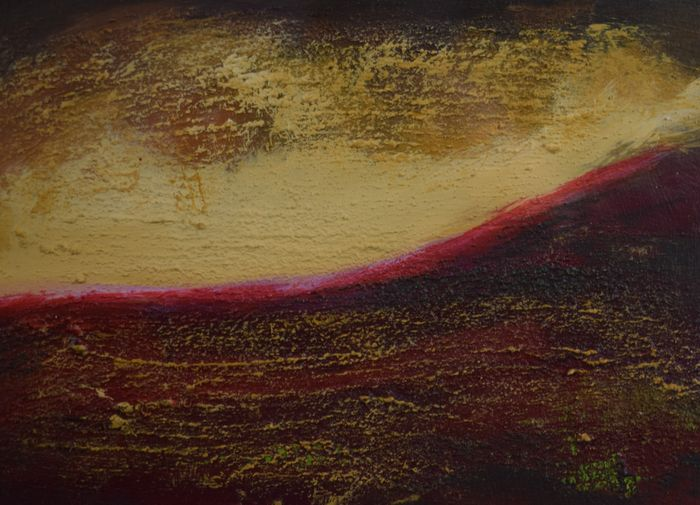 Yvonne van Woggelum - Abstract landschap 3 (Abstract landscape 3)