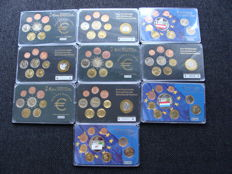 Europe – Year collections / medals of various Euro countries 1999/2008 (10 different ones)