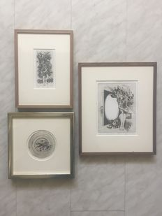 Fred C. Bergisch (1932) - Lot of 3 etchings