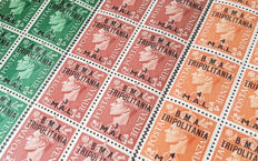 Morocco, Kuwait and Tripolitania 1936/1956 - Collection of blocks
