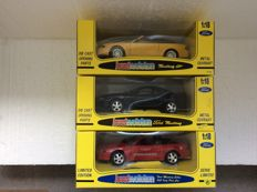 Jouef Evolution - Scale 1/18 - Ford Mustang GT Convertible, 1994 Ford Mustang Cobra Coupe & 1994 Ford Mustang Cobra 500 Indy Pace Car