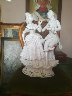 "Capodimonte -  "" love-making "" - Gigantic porcelain figure"