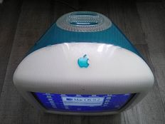 "Apple iMac G3 - Blueberry - model M5521, early 2000 - 350 Mhz G3, 192MB RAM, 20GB HDD, 15"", CD drive, MacOS 9"