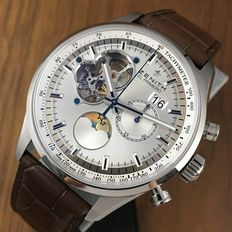 Zenith El Primero  Chronomaster Moonphase Grande Date ref. 03.2160.4047 / 01. C713    New With Tags - 2017