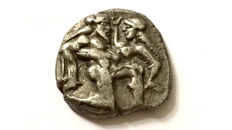Greek Antiquity - Thasos. AR Stater c. 500-480 BC. - Satyr / Nymph