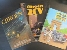 Lot with 3 books about Citroën - 1987/1994