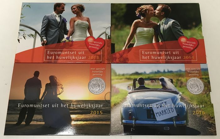 The Netherlands – Wedding sets with special medal 2013/2016 (4 pieces).