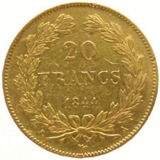 France – 20 francs 1844A – Louis Philippe – gold