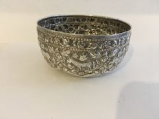 Solid silver bowl - India - early 20th century