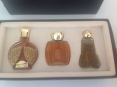 Collection Les Antiques - 2 Luciën Lelong + 1 Corday parfum flesjes ( ca 1931-1938)