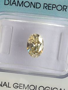 Diamond of 1.03 ct, Oval, Natural Fancy Light Brownish Yellow