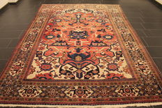 Rare, beautiful hand-knotted Persian carpet, Heriz Serapi, natural dyes, 220 x 320 cm, from €1 - no reserve
