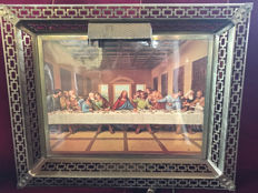 """Last supper"" gilt iron frame"