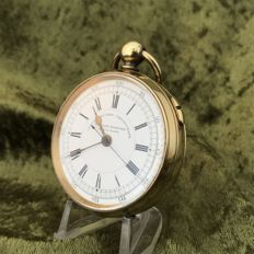 Doctor's pocket watch with central second hand – Circa 1880