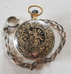 22. Seeland Watch Co - Tula / Niello magnificent savonnette pocket watch - Switzerland, Madretsch (BIEL) 1875