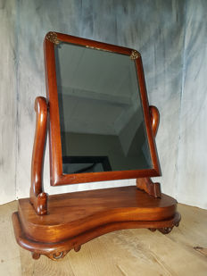 Wooden dressing table mirror (can be tiled) - approx. 1920