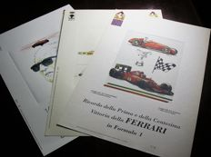 Lot of 3 Ferrari printings, in limited and numbered edition, original from 1990, 1991 and 1992