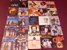 "80x 7"" Great Funk Soul Singles Lot Incl; Marvin Gaye,Bill Withers,Pointer Sisters,Earth Wind And Fire,Diana Ross and many more"