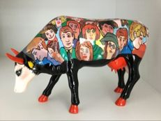 Cow Parade Cowparade - Many Faces - Large Resin Retired and RARE !