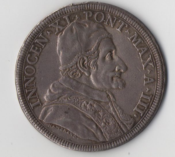 Papal State, 1678 - Piastre - Innocent XI, third year - Silver