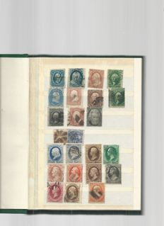 United States of America - assorted stamps in a book