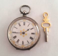 Alpine farmers' key wind pocket watch, cylinder escapement - approx. 1860-80