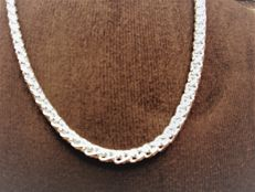 Sterling silver women's necklace of 925, length: 51 cm