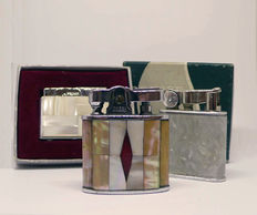 Collection of chromed metal and mother-of-pearl  lighters, first half of the 20th century