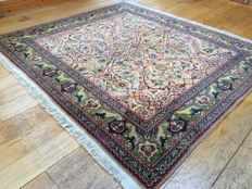 Vintage Fine Square Turkish Hereke Rug