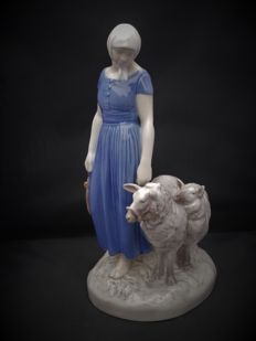 Axel Rocher for Bing Grondahl-& porcelain statue