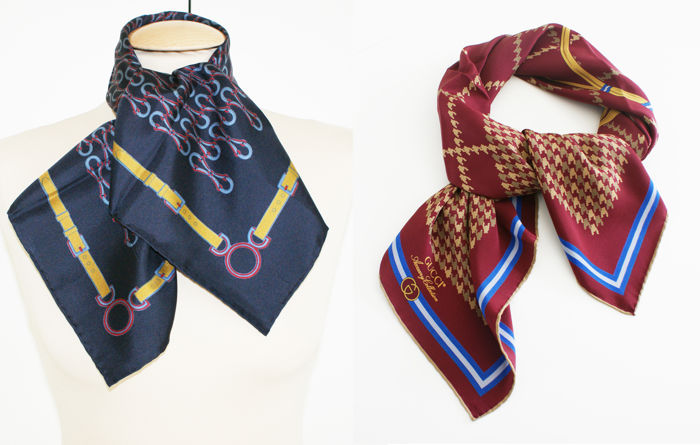85d9ce81344 Gucci - 2 scarves - Catawiki