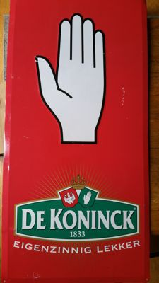 De Koninck advertising sign hand