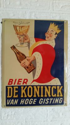 De Koninck advertising sign King