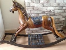 Very special large wooden rocking horse
