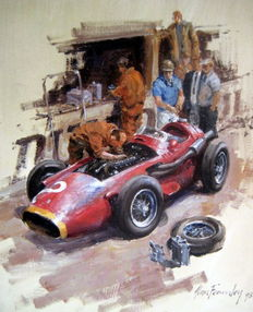 "Fine Art Print - ""Maserati 250F 1954-58"" One of the greatest of all Formula 1 Cars"