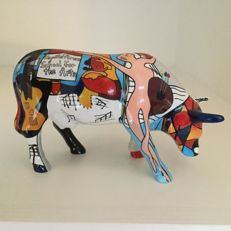 Cow Parade - Picowso's School For The Arts - medium - in original box with tag.