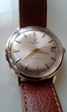 UNIVERSAL GENEVE timepiece, 10 kt gold plated Classic model powered by a microrotor, men's wristwatch